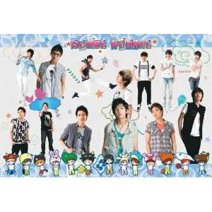 Super Junior cartoon row horiz POSTER 34 x 23.5 SuJu Superjunior