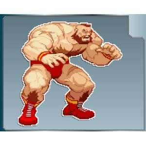 ZANGIEF sprite from Street Fighter vinyl decal sticker #1