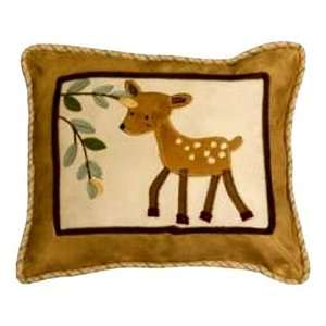 Lambs and Ivy Enchanted Forest Decorative Pillow, Tan