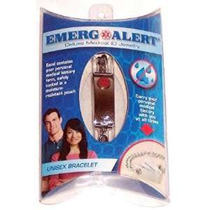 Emerg Alert Deluxe Medical ID Jewelry: Health & Personal