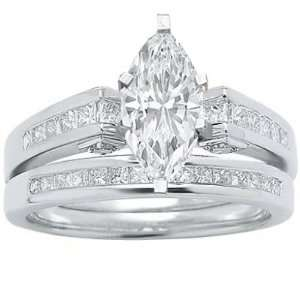 1.37 Carat GIA Certified Oval Cut / Shape 14k White Gold