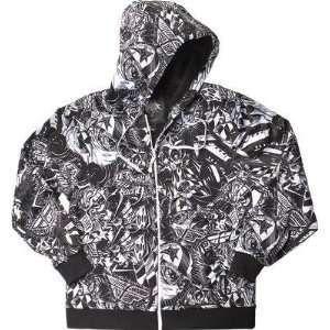 Fly Racing Winners Circle Hoody , Color Black/White, Size