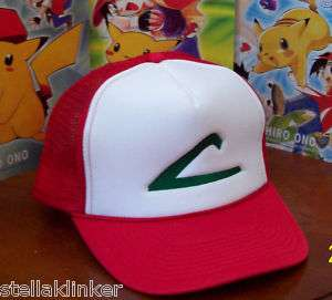 POKEMON  ASH KETCHUM CAP  EMBROIDERED  Hat NEW