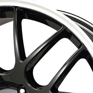 New 18X8.5 5 120 Drag Dr 37 Gloss Black Machined Lip Wheels/Rims