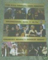 2007 CMA Awards Poster Carrie Underwood Reba McEntire