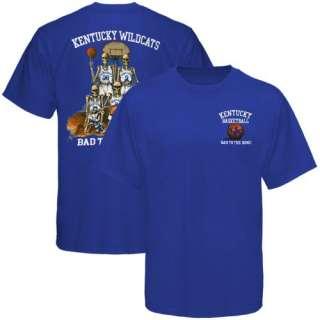 Kentucky Wildcats Royal Blue Bad to the Bone Basketball T shirt   XL