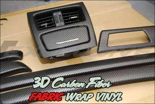 3D Twill Weave Gloss Black Carbon Carbon Fiber Fabric Wrap Vinyl
