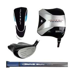 Young Gun 220cc Junior Square BLUE 5 WOOD Golf Club (heights 42 to 48