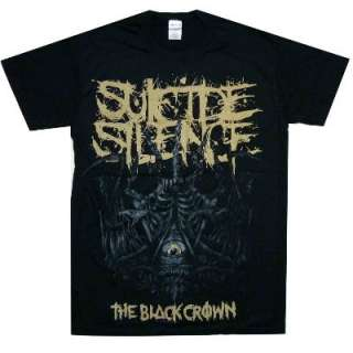 SUICIDE SILENCE Black Crown Official SHIRT M L XL T SHIRT New