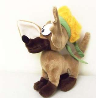 80s Vintage Oliver & Co Disney TITO the Chihuahua Stuffed Plush Animal