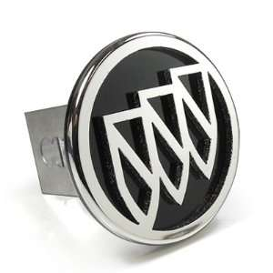 Buick 3D Black Infill Logo Steel Tow Hitch Cover Plug