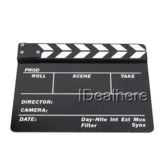 Standard Acrylic Movie Film Clapper board Slate Black