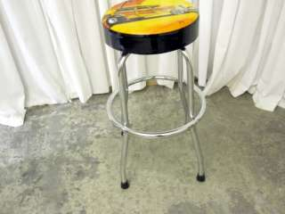 Stool w High Gloss Vinyl Seat Cover w Street Hot Rat Rod Car