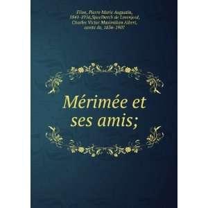 MeÌrimeÌe et ses amis;: Pierre Marie Augustin, 1841 1916