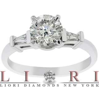 CERTIFIED ROUND DIAMOND ENGAGEMENT RING SET IN PLATINUM ER 053
