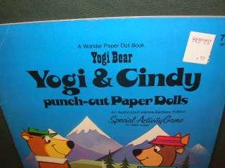 Vintage Yogi Bear Yogi & Cindy Punch Out Paper Dolls 1974 Unused
