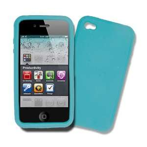 iPhone 4G, iPhone 4S LIGHT BLUE Silicone Case, Rubber Skin Cover, Soft