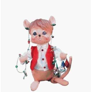 Annalee 2008 6 inch Christmas Lights Mouse   601708 Toys