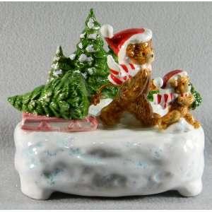 O Tannenbaum Otagiri Music Box Bears Christmas Trees