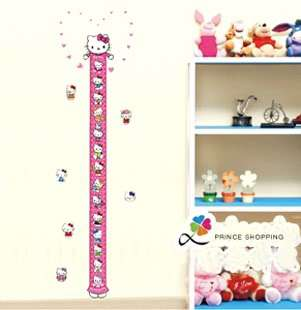Cute Disney Hello Kitty Home Wall kid Height Stature Decor Stickers