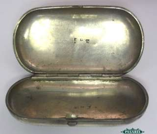 Antique Russian Silver Oval Cigarette Case Moscow 1870
