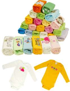 Pack 5 Pcs New Baby BB Boy Girl Long Sleeve Cotton Clothes Body