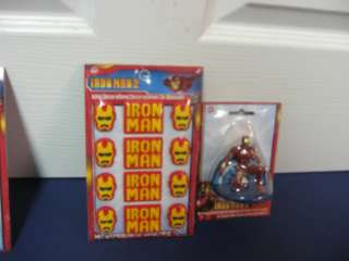 WILTON IRON MAN AVENGERS CAKE CUPCAKE SET CANDY TOPPERS AND CANDLE