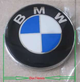 74MM BMW LOGO HOOD TRUNK BADGE EMBLEM M3 M5 X3 X5 E36