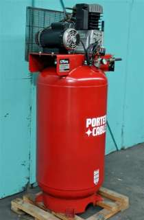 PORTER CABLE 7 HP VERTICAL AIR COMPRESSOR, SINGLE PHASE