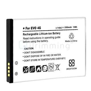 3500mAh Extended Battery+Cover Case For Sprint HTC EVO Shift 4G