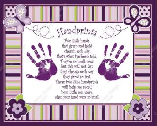 Sugar Plum Babys Handprints with Poem