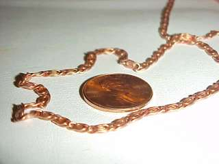 1000 FEET VINTAGE COPPER COATED S STYLE 3mm. CHAIN N7