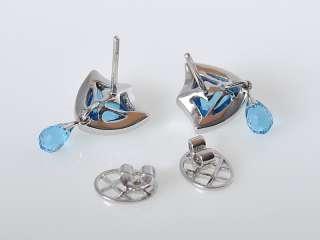 Gadi 18K White Gold Diamonds Topaz Dangle Earrings