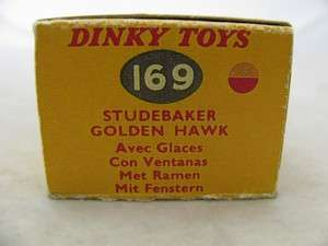 Dinky Toy #169 Studebaker Golden Hawk (1958) **Excellent Plus Overall