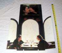 1984 RARE JOHN LENNON & YOKO *THE BEATLES* CARDBOARD STORE DISPLAY