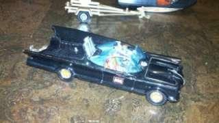 CORGI 1966 BATMAN BATMOBILE, BAT BOAT & TRAILER, THE FIRST ISSUE CLEAN