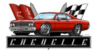 1966 Chevelle Muscle Car Cartoon Tshirt FREE