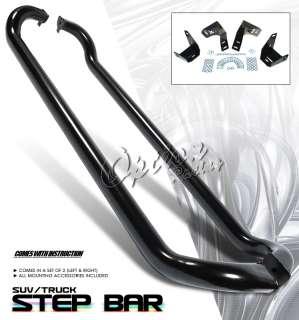 1998 2005 MERCEDES BENZ W163 M CLASS BLACK SIDE STEP NERF BARS