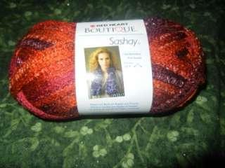 Red Heart Boutique Sashay Fishnet Weave Yarn Salsa