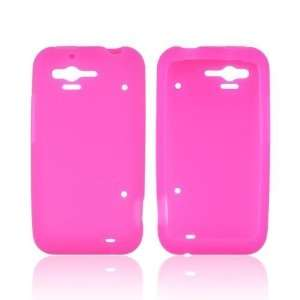 Hot Pink Silicone Skin Case Cover For HTC Rhyme Cell