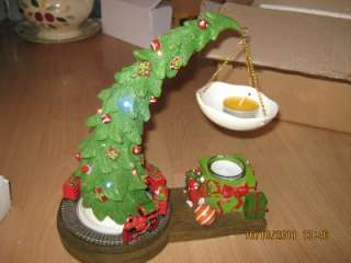 Yankee Candle CHRISTMAS TREE TART BURNER Battery Operated MUSICAL