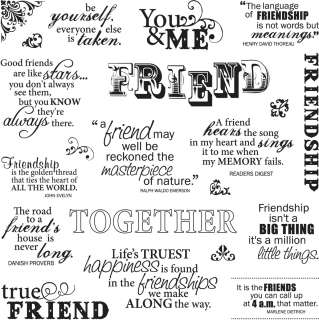 Friends Forever Fiskars Quote Clear Stamps 8X8 CSS8X8 5544
