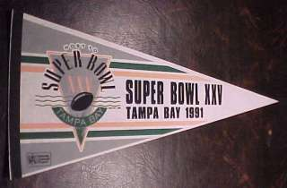 91 SUPER BOWL XXV NEW YORK GIANTS vs BILLS 30 Pennant