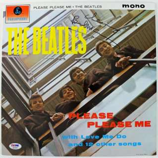 PAUL MCCARTNEY BEATLES PLEASE ME SIGNED ALBUM COVER W/ VINYL PSA/DNA