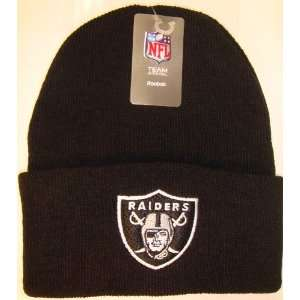 Oakland Raiders NFL Long Beanie Knit Cap Hat BLACK