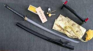 COMBAT READY FOLDED STEEL KATANA : SAMURAI SWORD (2203)