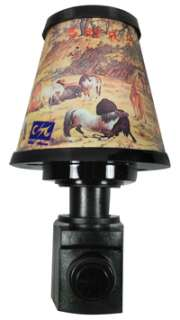 The Chinese characters on this night light lamp shade are Horse