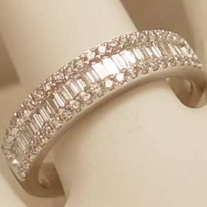 Exquisite 14Kt White Gold Diamond Band   Size 7.25