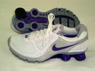 Nike Womens Shox Turbo+ 10 Running Shoes Training Workout White