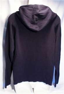 JCrew J Crew Hoodie Sweater Pullover Blue Cotton Small